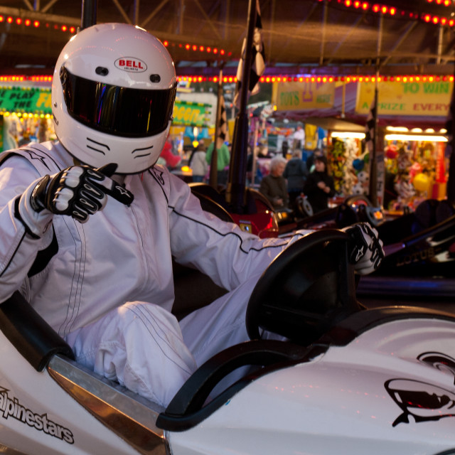 """'The Stig' at the fair"" stock image"