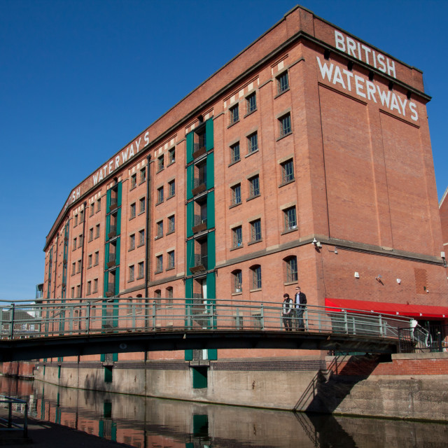 """The British Waterways Building, Nottingham"" stock image"