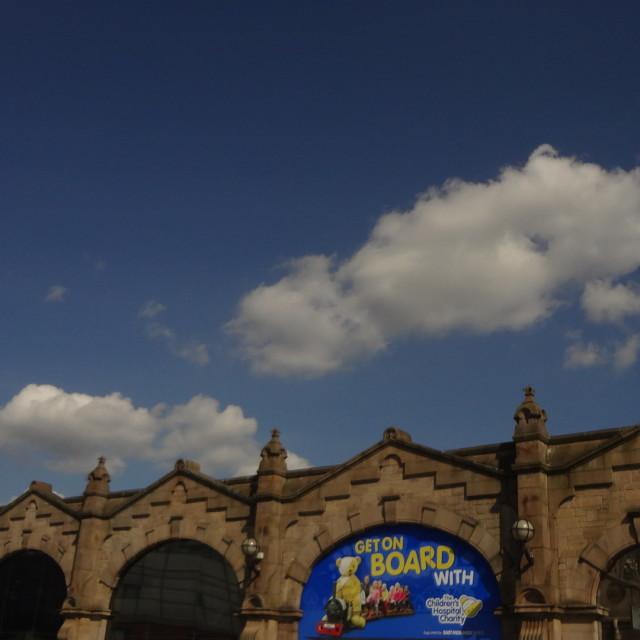 """Sheffield Station"" stock image"