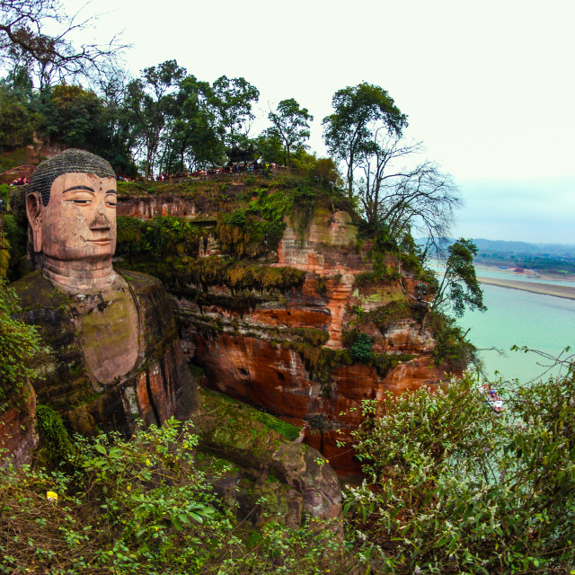 """The giant buddha"" stock image"