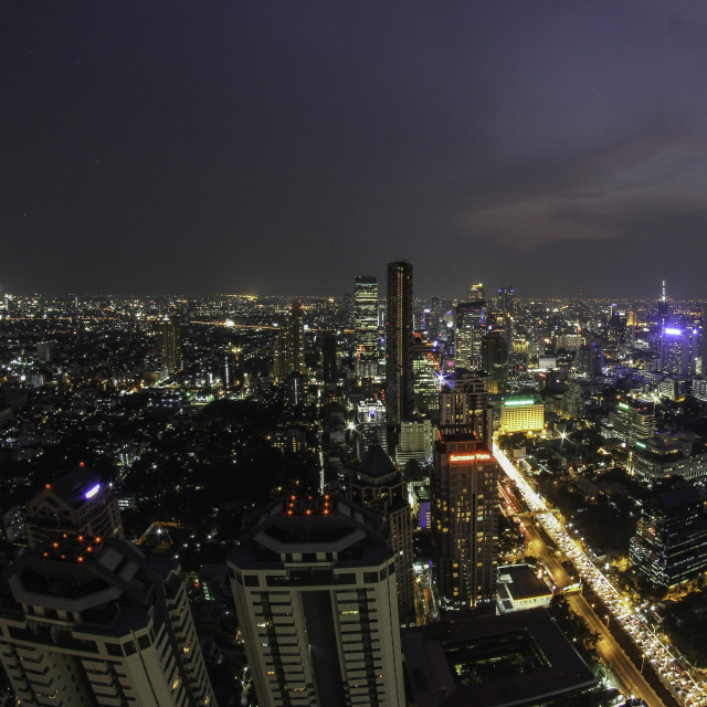 """Bangkok by night"" stock image"