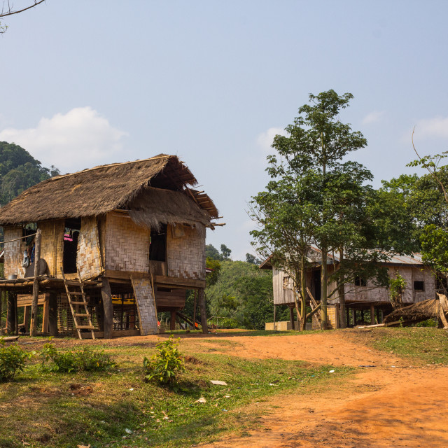 """Houses in Laos"" stock image"