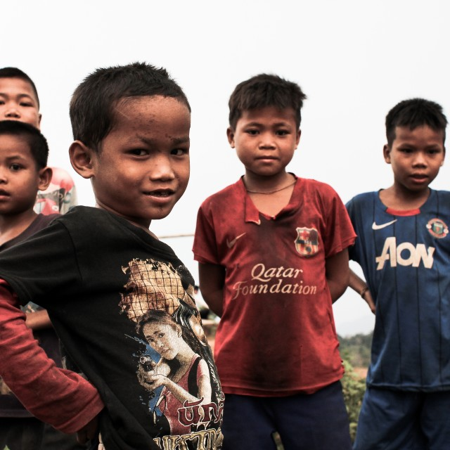 """Local kids in Laos"" stock image"