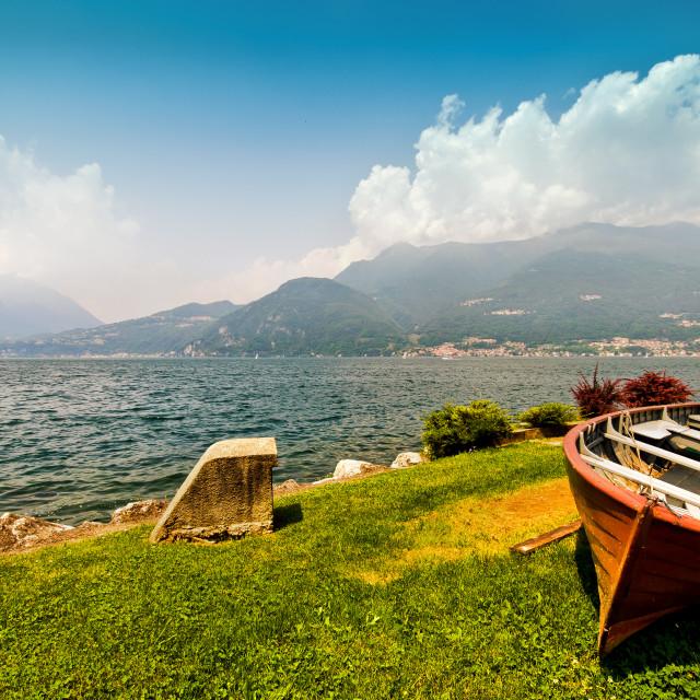 """The Italian Lakes"" stock image"