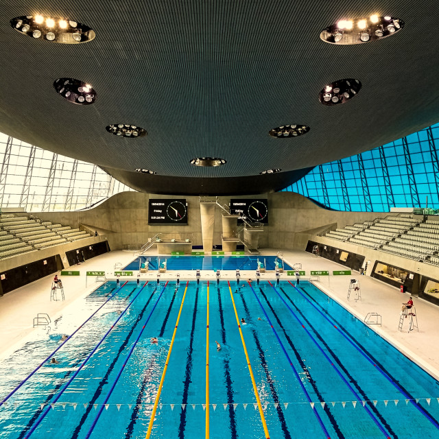 """London Aquatics Centre"" stock image"