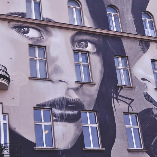 """Building Street Art - Bülowstraße, Berlin"" stock image"