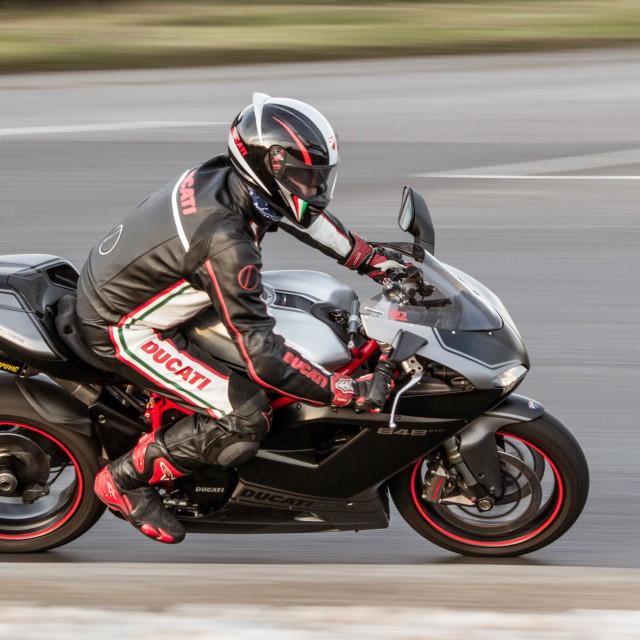 """Ducati motorbike"" stock image"