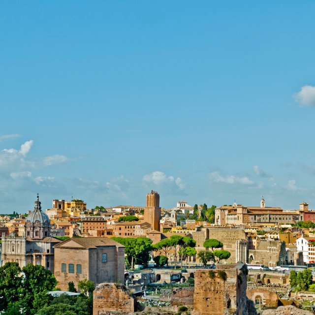 """Rome cityscape"" stock image"