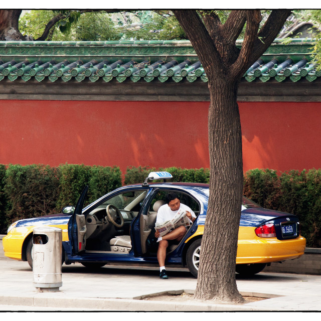 """Beijing taxi"" stock image"