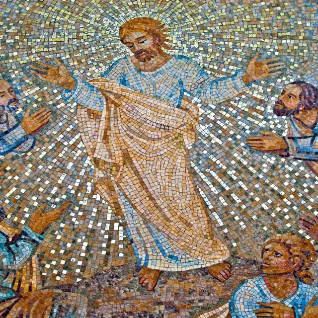 """""""Christ and His Disciples"""" stock image"""