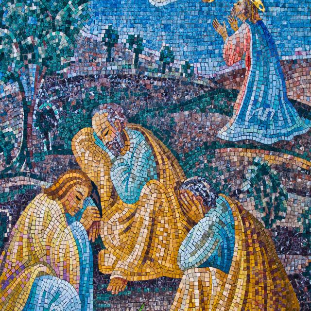 """The Prayer of Jesus in the Garden of Gethsemane"" stock image"