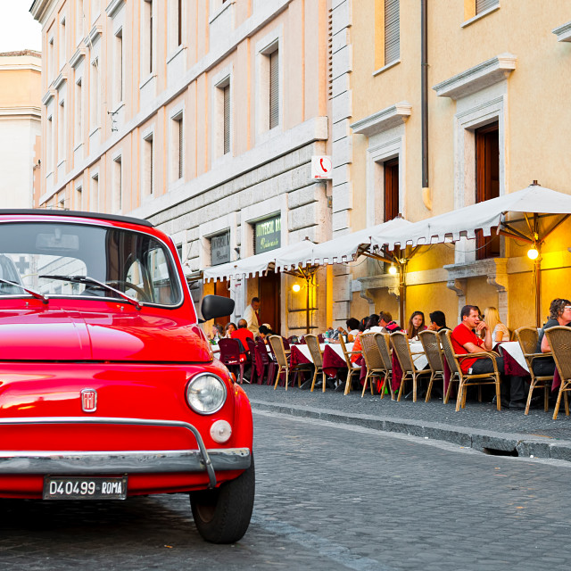 """Fiat 500 in Rome"" stock image"