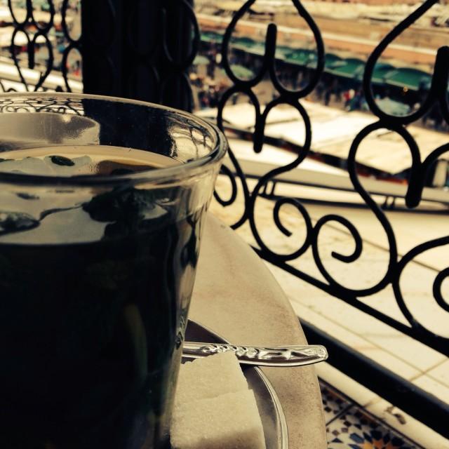 """""""Tea in Marrakech"""" stock image"""