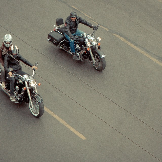 """Riders"" stock image"