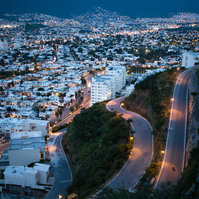 """Monterrey after sunset"" stock image"