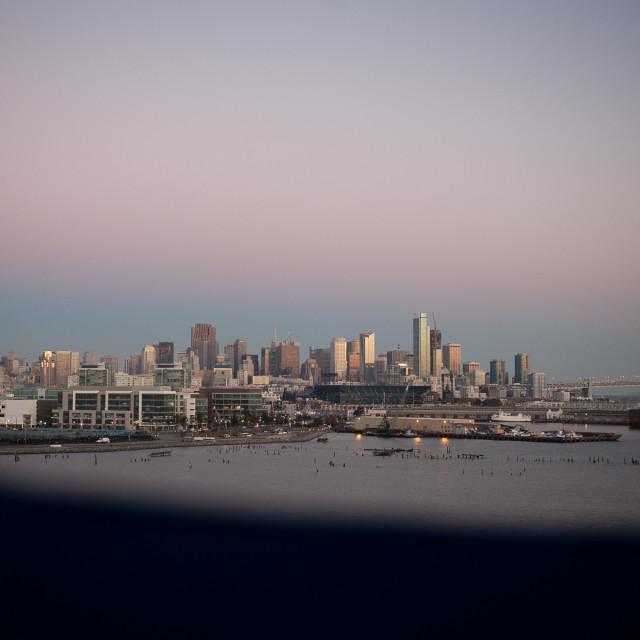 """San Francisco morning"" stock image"