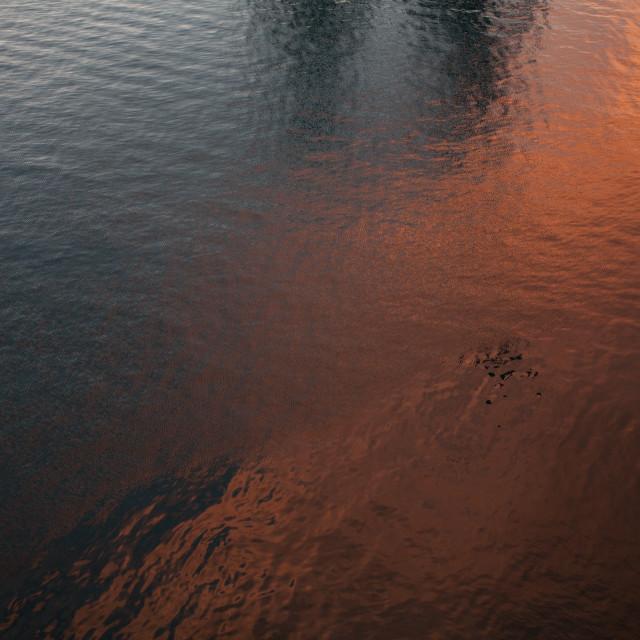 """""""Burnished Sea"""" stock image"""