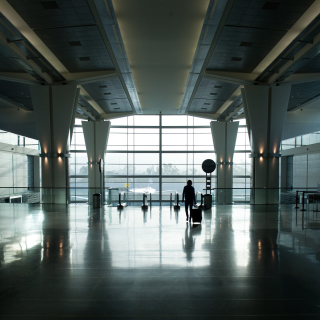 """Airport hall"" stock image"