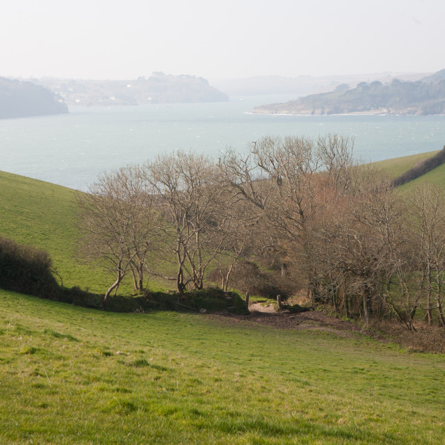 """Cornish Inlet"" stock image"