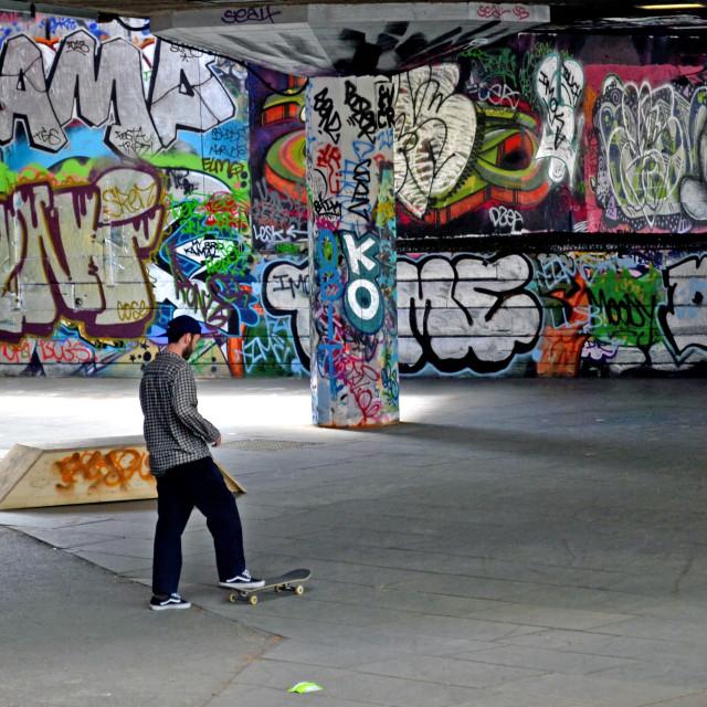 """""""Lone Skater"""" stock image"""