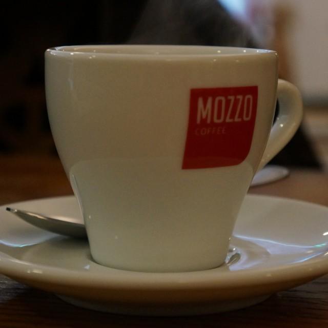 """Coffee?"" stock image"