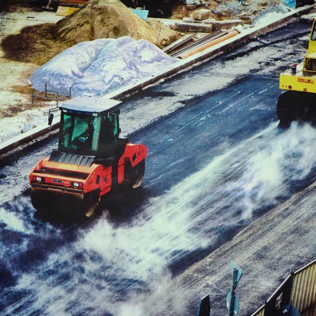 """Machinery At Work"" stock image"