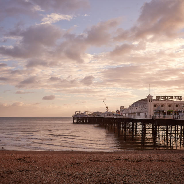 """The Brighton Pier"" stock image"