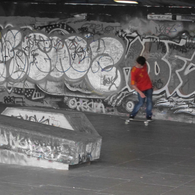 """Southbank skater"" stock image"