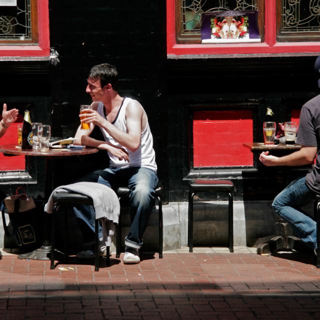 """Dublin street scene"" stock image"