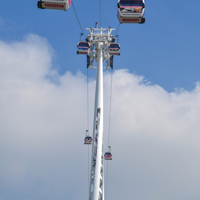 """Emirates Air Line, Greenwich"" stock image"