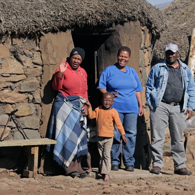 """Basotho family, Lesotho"" stock image"
