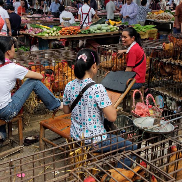 """""""Chinese market"""" stock image"""