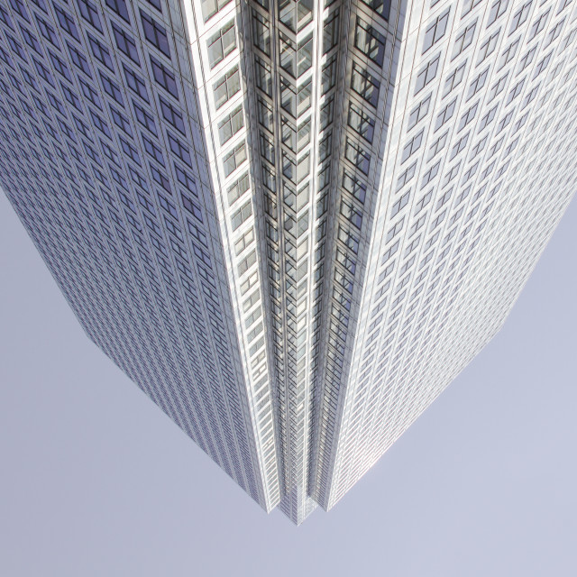 """Upside down building"" stock image"