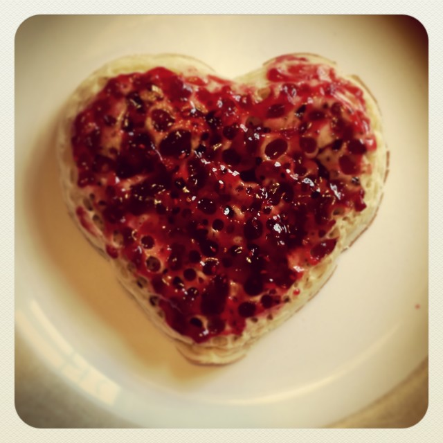 """Heart crumpet"" stock image"