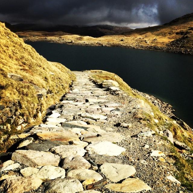 """""""Pyg Track, Snowdonia"""" stock image"""