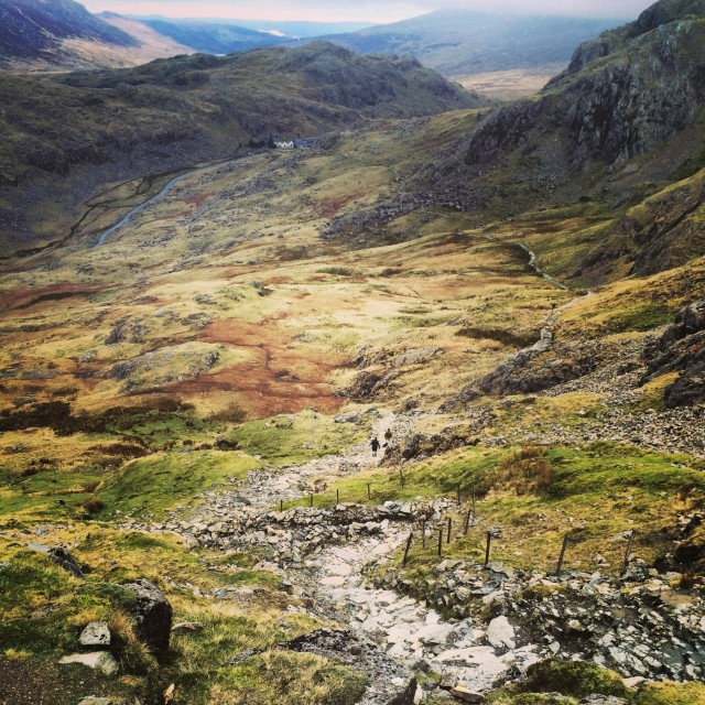 """Miner's Track, Mount Snowdon, Wales"" stock image"