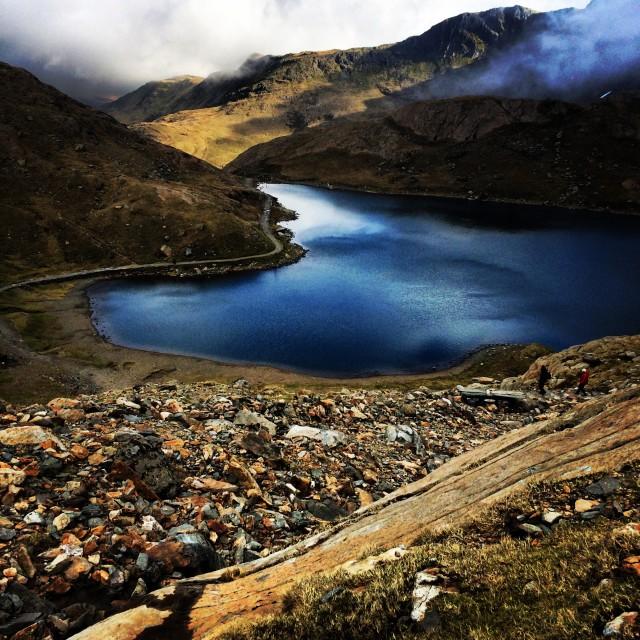 """Pyg Track, Mount Snowdon, Wales"" stock image"
