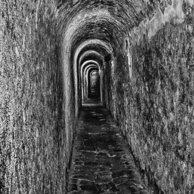 """Tunnel at Fort San Cristobal"" stock image"