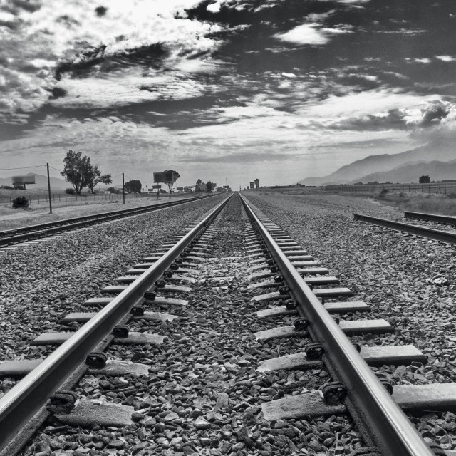 """Heading East - Tracks of Commerce"" stock image"