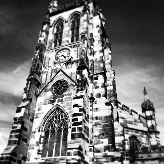 """Stockport parish church"" stock image"