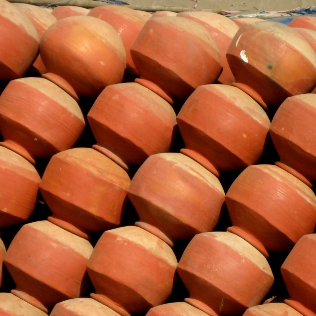 """Clay Pots"" stock image"