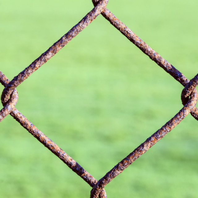 """Rusty Chain Link Fence"" stock image"
