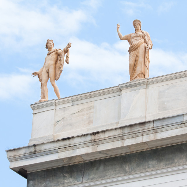 """Apollo and Hera in Athens, Greece"" stock image"