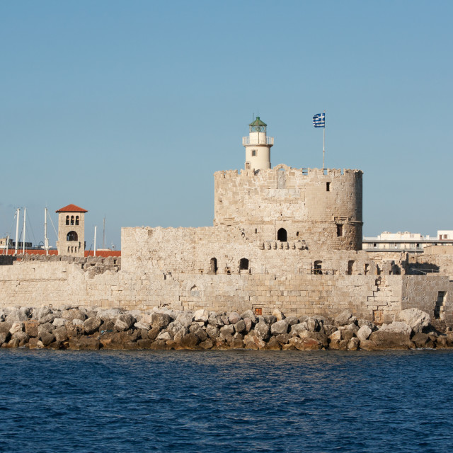 """Saint Nicholas Fort, Rhodes, Greece"" stock image"