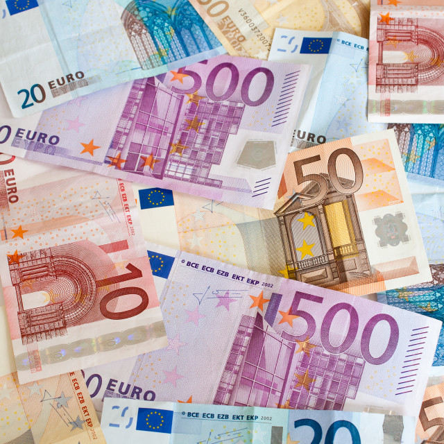 """Euro Banknotes Background"" stock image"
