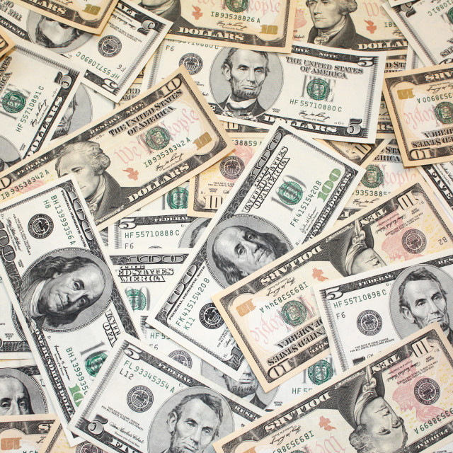 """Dollars Banknotes"" stock image"