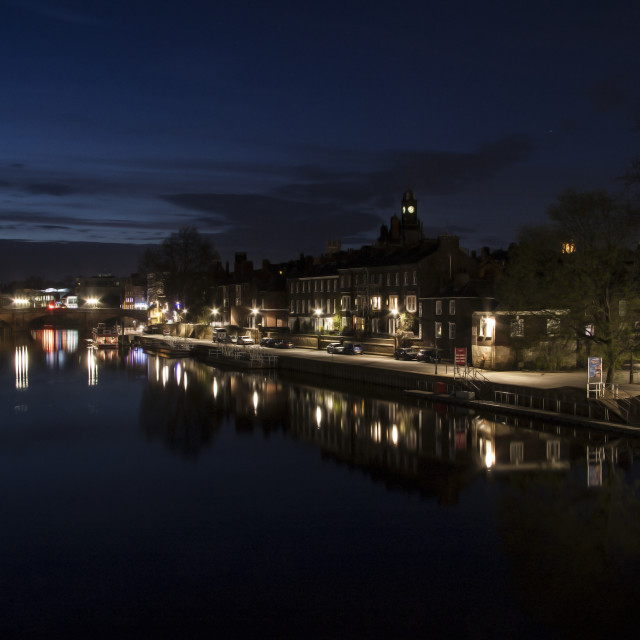 """River Ouse at Night"" stock image"