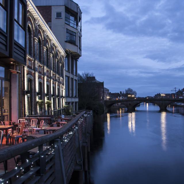 """""""Waterfront Bar York"""" stock image"""