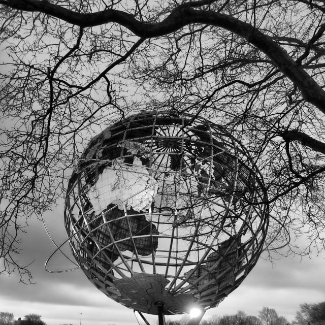 """Black and White Unisphere"" stock image"