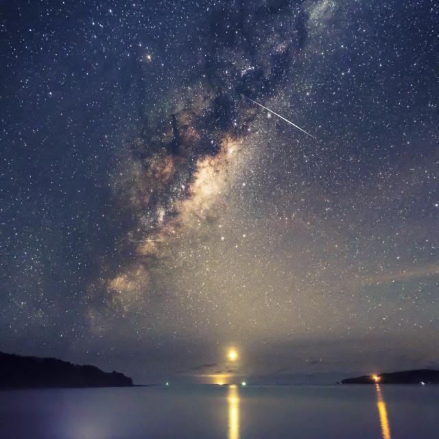 """Tawharanui Milky Way"" stock image"